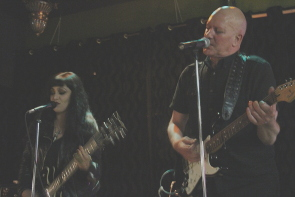 En Esch and Lady E  entertaining with industrial music. Photo by Richard Amery