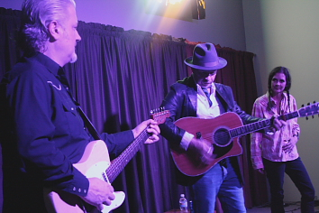 Chris Miller, Dave Alvin and Christie McWilson. Photo by Richard Amery