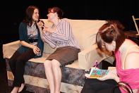 Lesley Galbecka, Meghan Porteous and Erica Hunt star in New West Theatre's latest production. Photo by Richard Amery