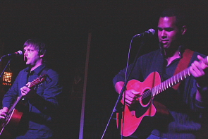 Folk Thief and My Boy Rascal play a song they wrote. Photo by Richard Amery