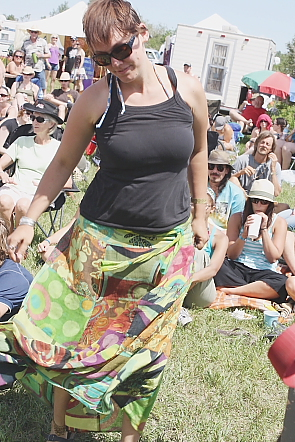 Jana MacKenzie enjoys the South Country Fair experience every year. Photo by Richard Amery