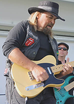 Paul Kype and Texas Flood were a highlight of LSCO Rocks the Block 2. Photo by Richard Amery
