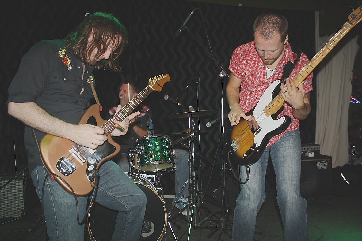The Perpetrators playing a smoking set of blues. Photo by Richard Amery