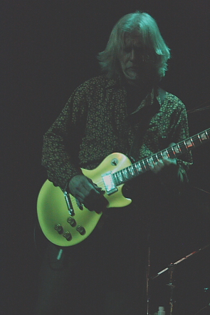 Todd Wolfe playing the blues, Feb. 6. Photo by Richard Amery