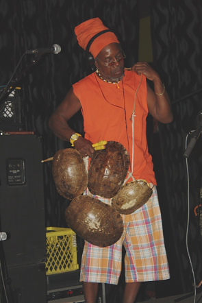 The Garifuna Collective's turtle shell player. Photo by Richard Amery