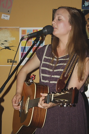 Kayla Luky returned to Lethbridge to play a solo show. Photo by Richard Amery