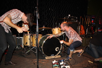 Murder By Death plays a drum solo. photo by Richard Amery