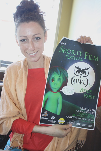 Marie-Héléne Lyle is excited about the Shorty Film Festival, May 24. Photo by Richard Amery