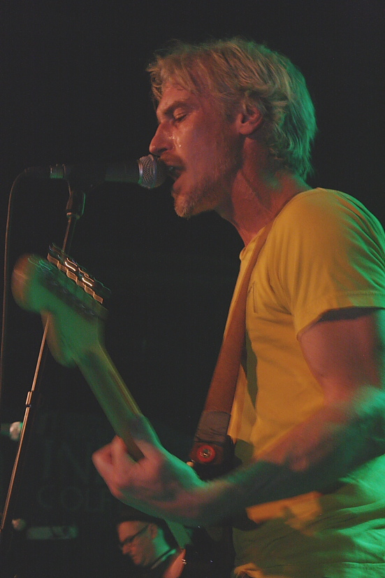 Sloan drummer Andrew Scott singing lead vocals  on a couple of songs. Photo by Richard Amery