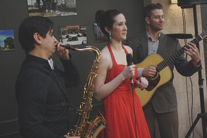 Oliver Miguel, Ellen Doty and Josh Krowhurst play the Lethbridge Jazz Festival this year. Photo by Richard Amery