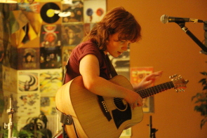 Megan Nash returned to the Owl Acoustic Lounge, Aug. 15. Photo by Richard Amery