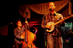 Scott Cook and Melissa Walker playing the Slice, Sept. 11. Photo by Richard Amery