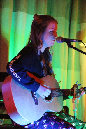 Holly Kletke playing the AES Fundraiser, March 14. Photo by Richard Amery