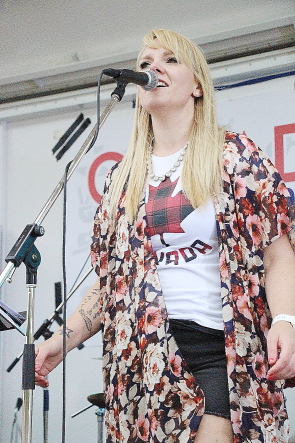 Alyssa McQuaid and Coyote Junction playing Canada Day in henderson Lake Park, July 1, Photo by Richard Amery