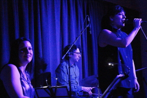 The Andrea Superstein Trio playing the Geomatic Attic. Photo by Richard Amery
