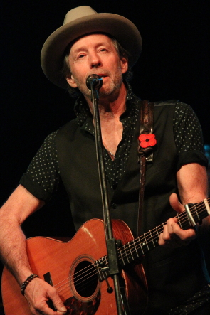 Barney Bentall hosting the Grand Cariboo Express at Southmoinster United Church, Nov. 7. Photo by Richard Amery