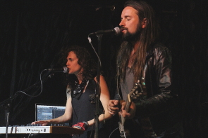 Bend Sinister's Joseph Blood and Kristy-Lee Audette at the Slice, June 22. Photo by Richard Amery
