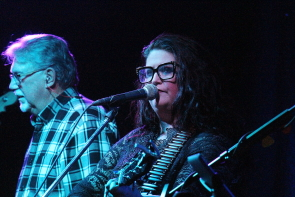 Breanne Urban and Tom Hudson singing with Southern Flyer, Nov. 16 at Casino Lethbridge. Photo by Richard Amery
