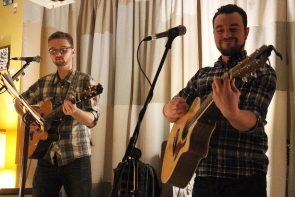The bryant Watson Duo at the owl Acoustic Lounge, Jan. 12. photo by Richard Amery