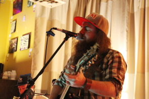 Carter Felker and Skinny Dyck at the Owl Acoustic Lounge. Photo by Richard Amery
