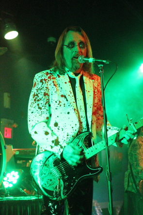 Tim Carter of the Chevelles performing  for Halloween at Average Joes. POhoto by Richard Amery