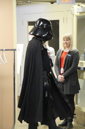 Darth Vader makes an entrance. Photo by Richard Amery