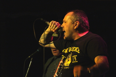 Citizen Rage's Mark Russell at the Slice, Jan. 17. Photo by Richard Amery