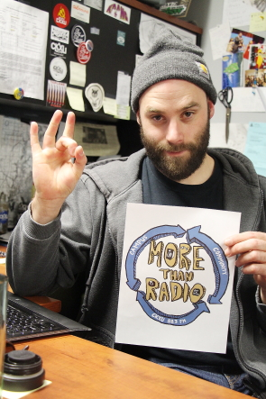 CKXU Station manager Aaron Trozzo is excited about FUNdrive 2017. Photo by Richard Amery
