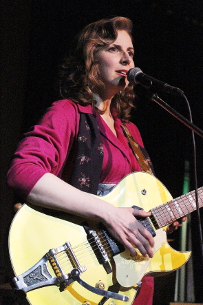 Colleen Brown of Major Love at the Slice, Feb. 16. Photo by Richard Amery