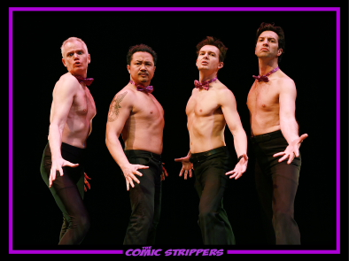 The Comic Strippers (L-R) Ken Lawson, Chris Casillan, Roman Danylo, David Milchard. Photo Submitted