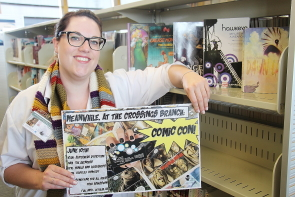 Paige McGeorge is excited  Comicon will promote the comic collection at at the Chinook Crossings Branch, June 10. photo by Richard Amery.