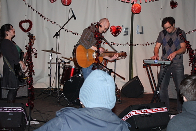 Thew Darby And Joan Club playing love songs at CKXU Loves You 4. Photo by Richard Amery