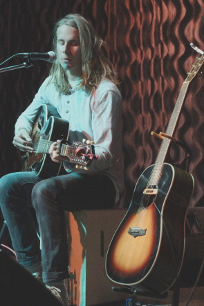 Devarro playing his first Lethbridge show. Photo by Richard Amery