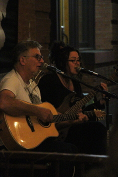 Don Cassell and Dil Jopp at the Owl Acoustic Lounge, Sept. 18. Photo by Richard Amery