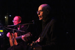 Double Helix, Tony and Peter Chotem, at the Slice, April 29. Photo by Richard Amery