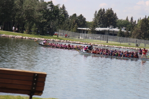 There was plenty of dragon boating action during this year's Rotary Dragon Boat Festival. Photo by Richard Amery