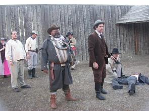 A scene from last year's Gunfight at Fort Whoop Up. Photo by Drama Nutz