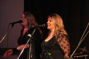 Jasmine Mitchell and Jackie French of Fast Times at Casino Lethbridge. Photo by Richard Amery