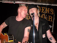 The Mahones' Finny McConnell and The Popes' Paul (Mad Dog) McGuinness.