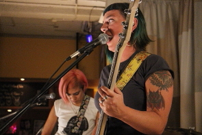 Bunwitch playing their first gig at Flipfest at the Owl Acoustic Lounge. photo by Richard Amery