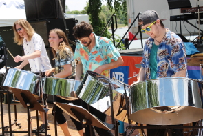 Global Drums at the Rotary Dragon boat Festival, June 22. Photo by Richard Amery