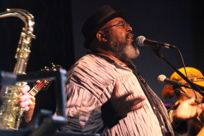 Juran Greene of hippodrome at the Slice, Jan. 6. Photo by Richard Amery