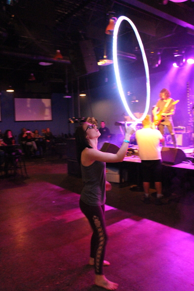 Megan Rae Norris hula hooping to Whale and the Wolf. Photo by Richard Amery