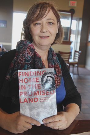 Jane Harris and her new book. Photo by Richard Amery