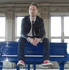 Jeffrey Straker plays McKillop United Church, June 19. Photo Submitted