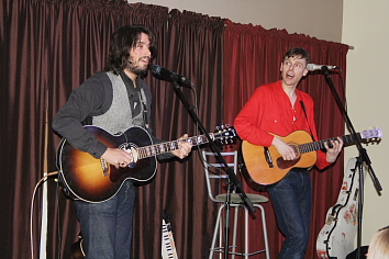 Joel plaskett and Peter Elkas entertained two sold out crowds at the Geomatic Attic April 9 and 10. Photo by Richard Amery