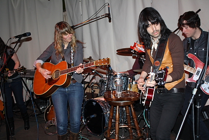 The John Henrys joined Madison Violet on stage for an encore of their song 'Small of my Heart.' Photo by Richard Amery