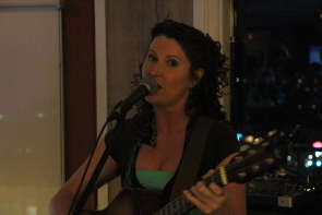 Jolene Draper and the Inquisitive Few were at the Watertower Grill, April 12. Photo by Richard Amery