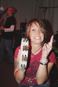 Joy's frontwoman Sarah Smith is a rocker chick. Photo By Richard Amery