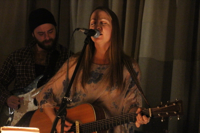 Kayla Luky playing the Owl Acoustic Lounge. Photo by Richard Amery